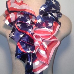 Ruffle Collar - Red, White and Blue Patriotic