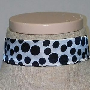 Choker - Black with White Polka Dots 2