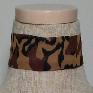 Choker - Caramel, Black and Brown Animal Print