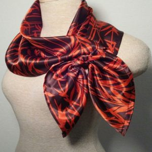 Large Nautical Square - Brown and Orange Leaves 3