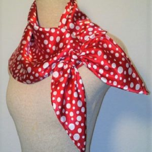 Large Nautical Square - Red and White Polka Dot