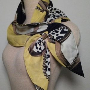 Large Nautical Square - Yellow and Black