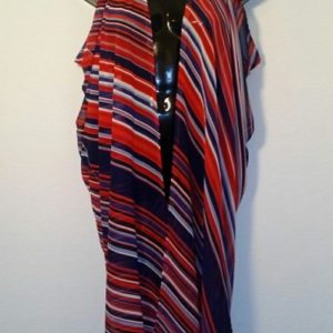 Scarf Vest - Red, White and Blue Stripes
