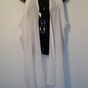 Scarf Vest - Solid White