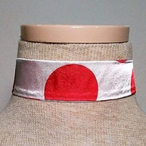 Choker - Red and White Polka Dot 2
