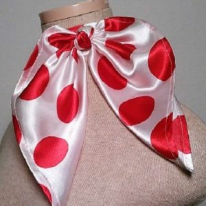 Traditional Neckerchief - White and Red Polka Dot 1
