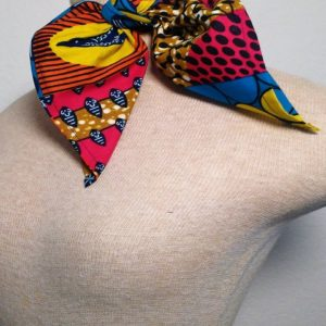 Traditional Neckerchief - Black, Turquoise and Hot Pink