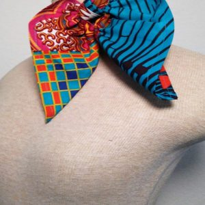 Traditional Neckerchief - Hot Pink and Turquoise