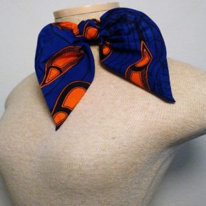 Traditional Neckerrchief - Royal Blue and Orange