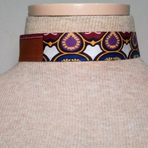 Choker - Brown, Lilac and White