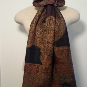 Long Scarf - Black and Brown