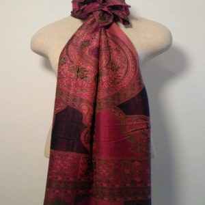 Long Scarf - Pink and Black