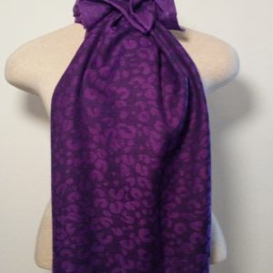 Long Scarf - Purple and Black