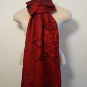 Long Scarf - Red and Black