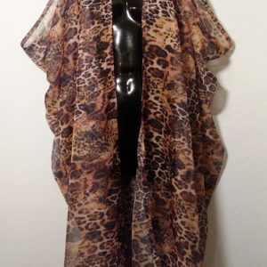 Scarf Vest - Black and Gold Animal Print