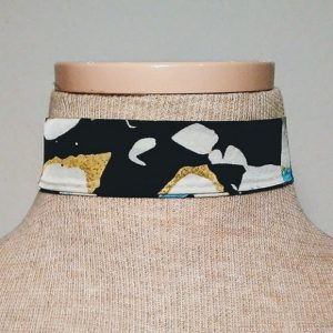 Choker - Black, Gold and Turquoise