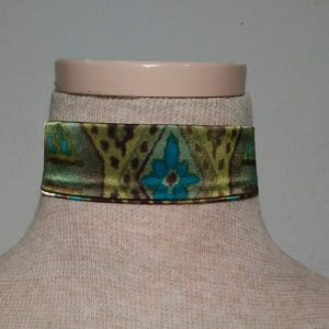 Choker - Green, Brown and Turquoise