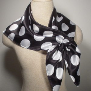 Nautical Square - Black and White Polka