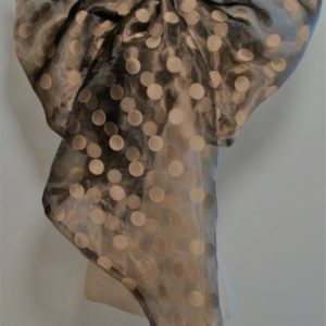 Grande Fishtail Chic Neckerchief - Black and Gold Irredescent