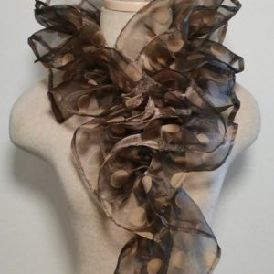 Ruffle Collar - Black and Gold